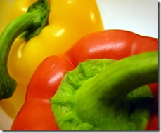 Ripe bell peppers.
