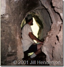 Small cave at Alley Spring - © 2001 Jill Henderson