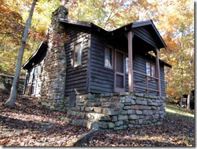 Alley Spring Seasonal Cabin 506  built by the CCC in 1934.  Photo: NPS