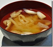 Miso and onion soup