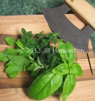 Herbs With Cutting Board © Jill Henderson