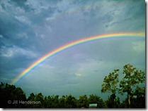 Rainbow after the storm. © Jill Henderson