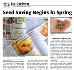 Seed Saving Begins in Spring - Jill Henderson - Acres USA May 2014