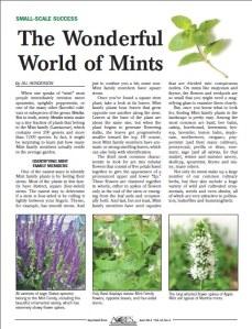 The Wonderful World of Mints - ACRES USA Magazine