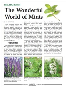 The Wonderful World of Mints - ACRES USA Magazine