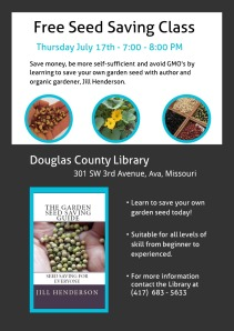 Seed Saving Class Ava Library