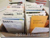 Paper packets work great for storing most types of seed.