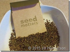 Seed really does matter.  Image copyright Jill Henderson ShowMeOz.wordpress