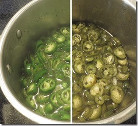 Making jalapeno slices. Image copyright Jill Henderson Show Me Oz (5) blanching